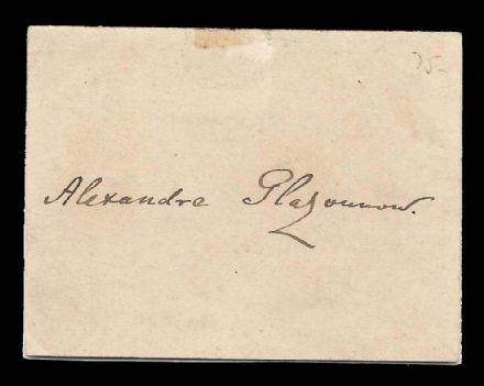 Alexander Glazunov Rare Antique Signature Autograph of Russian Composer 1929